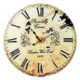 'Reloj de pared 'Piccadilly Circus   Vintage   grande   Diseño   para salón   Decoración   Reloj de cocina, precio en el mango