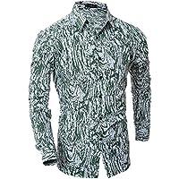 zxc Top Camisas para Hombres, Ropa Casual, Camisas De Manga Larga,Verde,L