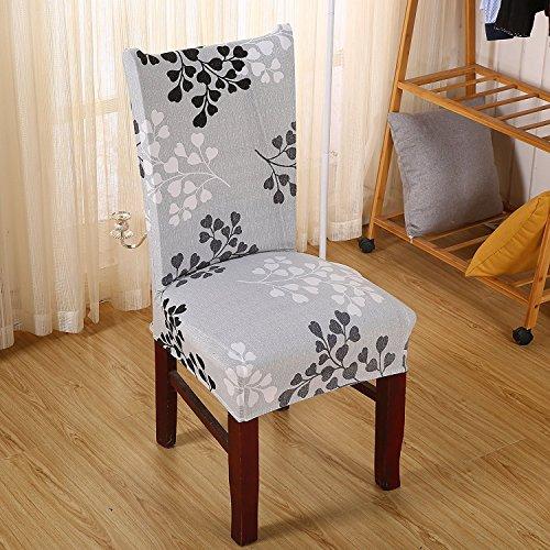 6x morbido spandex elasticizzato Fit sedie da sala da pranzo con motivo stampato, banchetto sedia sedile Slipcover per Hone party hotel cerimonia di nozze Posate da pasto B - 2