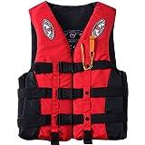 SmallYin Livsjacka för vuxna hjälpväst kajak skidor flytkraft fiske båt vattensport 0326RUK138, orange, blå, gul, röd