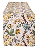 #9: Rajrang Exclusive Table Runner For Dining Table White Printed Cotton White Floral