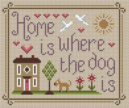 Little Dove Designs Home Is Where The Dog Is Cross Stitch Kit by Little Dove Designs -
