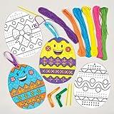 Kit Uova di Pasqua Decorative a Punto Croce per Bambini da Confezionare, Decorare e Appendere - Set di Creazioni Fai Da Te per Bambini (Confezione da 5)