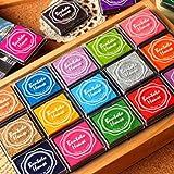 Dolity 20-Farbiges Regenbogen Stempelkissen Fingerabdruck Stempel für DIY Scraping