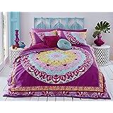 Pieridae Paisley Mandala funda de edredón y funda de almohada Set ropa de cama sofá para dormitorio (doble, color rosa)
