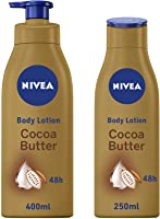 NIVEA, Body Care, Body Lotion, Cocoa Butter, Dry Skin, 400ml + 250 ml