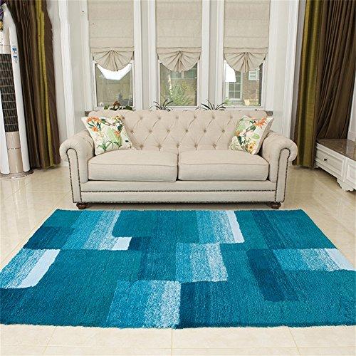 Q Modernen minimalistischen rechteckigen Teppich, blau rutschfeste Bereich Teppiche/Mat für Wohnzimmer Couchtisch Schlafzimmer (größe : 120*170cm)