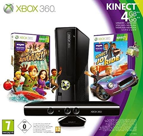 Console Xbox 360 4Go + Kinect + Kinect adventures ! + Kinect Joy Ride