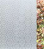 Concus-T Fensterfolie Glasdekorfolie Privatsphäre Folie für Fenster statische Ohne Kleber Sichtschutzfolie Design Blume 45x200cm