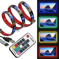 LED Strip InnooLight TVHintergrundbeleuchtung LED-Streifen anpassbare Hintergrundbeleuchtung Lichterkette mit vielen Farben, Fernbedienung und USB betriebenem 2 Meter für TV, Desktop ,Schreibtisch, Küche,Treppe
