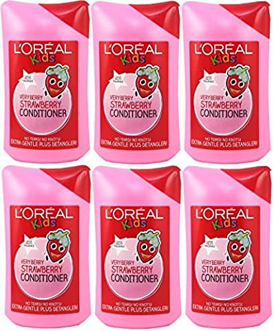 6x L'Oreal Paris Kids Very Berry Strawberry Conditioner