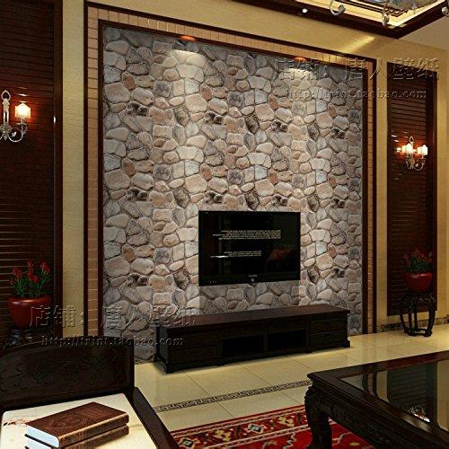 JSLCR Chinesische Kultur Stein Tapete Wohnzimmer Esszimmer retro 3D Veranda Wandstein Stein Tapete