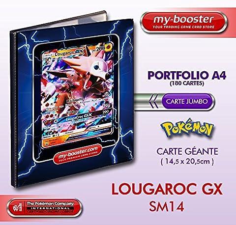 Portfolio Pokemon LOUGAROC GX SM14 200PV Soleil et Lune - Rangement 180 cartes - Format A4