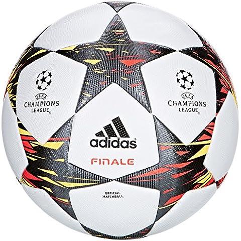 adidas F93366 Finale 14 OMB - Balón de fútbol (talla 5), color blanco, rojo y amarillo