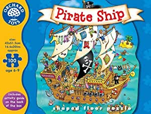 Pirate Ship Shaped Floor Puzzle by Orchard Toys TOY (English Manual)