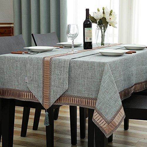 Rart Tischdecken,Obere abdeckung tabelle,Tischdecke für esszimmer Küche tischdecke Vintage square tischtuch-A 140x240cm(55x94inch)