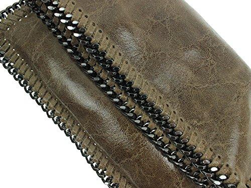 bag2basics , Pochette pour femme Noir noir Taille unique Taupe