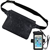 Micacorn Waterproof Pouch Bag & Waterproof Phone Case, Adjustable Waist Strap with Transparent Screen Touchable for Beach, Sw