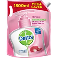 Dettol Skincare Germ Protection Handwash Liquid Soap Refill, 1500ml