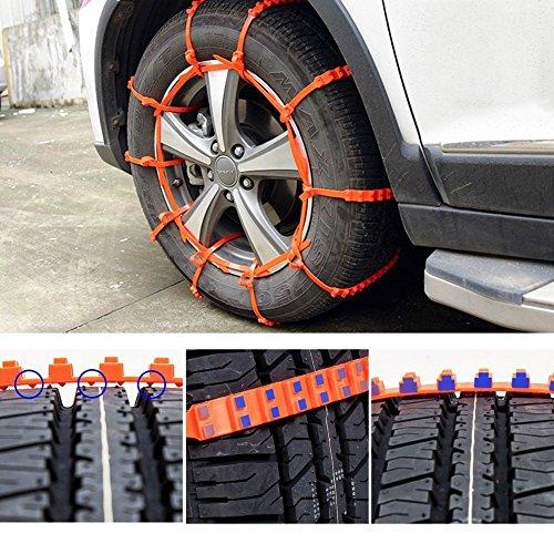 HCMAX 10pcs emergenza emergenza monouso neve aiuto zip grip gob catena  pneumatico auto pneumatico anti-scivolo catena da neve strada / gel / sabbia  / emergenza emergenza stradale catena di catena | Prezzi