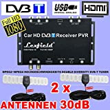 TV Auto DVB-T True Double Diversity Tuner Set mit Full