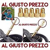 Kit 5 Adattatori Universali per Valvole da PRESTA a SCHRADER specifici per Bici da Corsa e Mountain Bike - Gonfia con il Compressore o la Pompa a pedale. Made in Italy - AlGiustoPrezzo