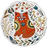 BOOMZZ Cartone Animato Ceramica Dipinta A Mano Piatto Occidentale Pasto Torta Dim Sum Piatto Piatto di Frutta Piatto Gatto Modello 20cm Arancio