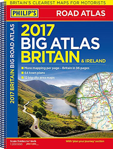 Philip's Big Road Atlas Britain and Ireland 2017: Spiral por Philip's Maps