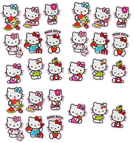 Unbekannt 27 TLG. Set _ Aufkleber / Sticker -  Hello Kitty  - selbstklebend - für Mädchen - Katzen / Kätzchen Stickerset Kinder - z.B. für Stickeralbum / Figuren - Ha.. (Ein Kitty Mädchen Hello Ist)