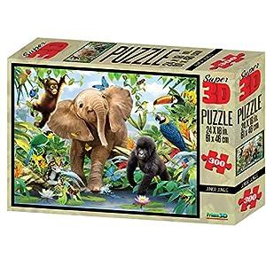 MAGNI-Jungle Puzzle 3D 300Piezas, 2527