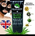 BLACK ROSE NATURALS Activated Bamboo Charcoal Peel Off Face Black Mask With AloeVera. For Blackhead, Whitehead, Pore, Acne Removal Deep Facial Cleansing Oil Control Moisturising Face Mask. from BLACK ROSE NATURALS