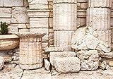 Fototapete alte griechische säulen S 200 x 140cm - 4 Teile Vlies Tapete Wandtapete - Moderne Vliestapete - Wandbilder - Design Wanddeko - Wand Dekoration wandmotiv24
