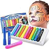 DY_Jin Pintura Facial,Buluri 12 Colores Face Paint Crayons Conjuntos de Pintura Corporal Faciales Seguros y no Tóxicos(12colo
