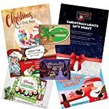 Christmas Eve Box Fillers - Fun Christmas Games Collection - Family & Kid Friendly Christmas eve games - Christmas Bingo ~ Xmas Would You Rather ~ Xmas Lights Hunt - Charades for family - Carols Quiz