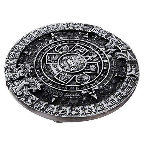 FLAMEER Amerika Western Hip Hop Cowboy Gürtelschnalle Jeans Aztekischer Kalender Maya Style - ()