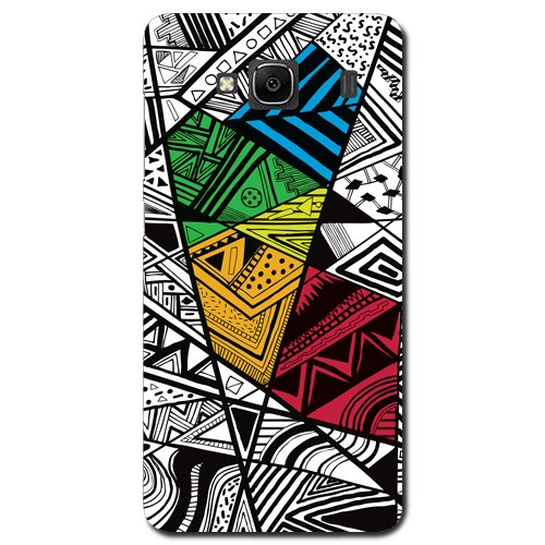 Kaira brand Designer Back Case Cover for Xiaomi Redmi 2 (Color-Doodle)