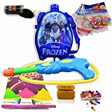 #7: Godofsale Holi Pressure Water Gun Pichkari with Back Pack Tank Squirter In Kids Favourite Characters - Size 1.5 ltrs ( Frozen) + 200 Balloon,1 Pack OF Color Capsule, 1 Chandan, 2 holi color and 1 Gulal Free