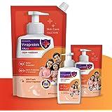 Asian Paints Viroprotek Allura Liquid Handwash Skin Care Pack of 1 Bottle 200 ml + 2 Pouch 750 ml + 175 ml, Neutral, Citrus,