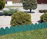 Zaun grün 2,40 m Rasenkanten Beeteinfassung Palisade Beetumrandung Garten Rasen Zierzaun Gartenzaun