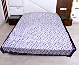 Indistar 3 Layered Quilted Super Soft Cotton Printed Premium Quality Double Bed Dohar/Top-Sheet/AC Blanket_(210X240 CM)(Pack of 1 Piece)_Purple