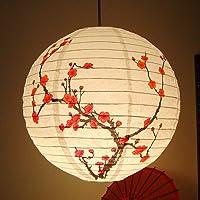 Zonster 35cm Papier Prunier Ronde Lanterne Abat Oriental Chinois Style De Light Restaurant De SoiréE De Mariage…