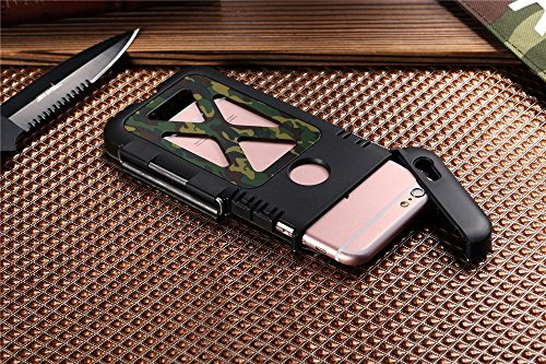 r-just neuesten Camouflage iPhone 7, iPhone 7plus Metall Fall, Edelstahl Metall [stoßfest dropproof] Bumper Flip Back Cover für iPhone 7, iPhone 7plus Fall, Edelstahl, camouflage, iphone 7 camouflage