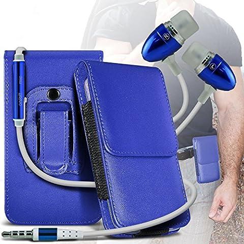 Spyrox (Blue) LG 410G Protettivo PU cuoio della copertura Holder