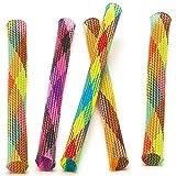 Baker Ross Coloridos Tubos Saltarines Pequeños Juguetes Relleno de Piñata Divertidos Premios y Regalos de Fiestas Infantiles (Pack de 8)