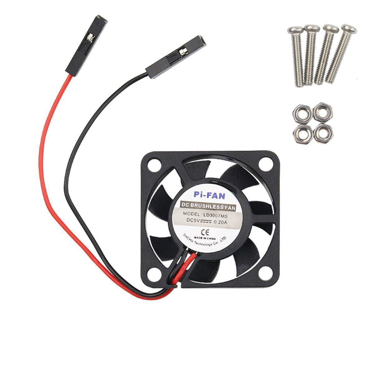 Wingoneer Dc 5v Brushless Cpu Cooling Fan Avec Vis Pour Raspberry Pi