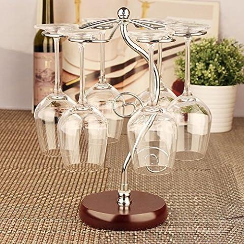 Finitura in acciaio inossidabile vino Rack supporto a pavimento contiene?moda creative capovolto vino rosso rack di vetro,l'albero della vita vino rack di vetro