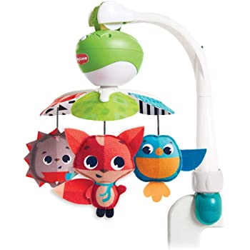 PER Baby Hanging Music Box Sleeping Soother with Clam Down Melody Music Toys for Crib Stroller-Blue