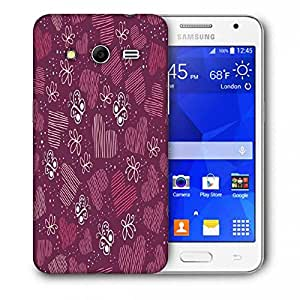 Snoogg Multicolor Heart And Butterfly Printed Protective Phone Back Case Cover For Samsung Galaxy Core 2 / Core II G355H