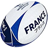 Gilbert Unisexe Coupe du Monde de Rugby Japon 2019 France Supporter Boule, Multicolore, 5