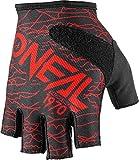 O'Neal Fingerless Wired Rot Fahrrad Handschuhe MTB DH BMX FR Enduro Mountain Bike, 0374-20, Größe L